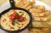 Crab four cheese fonduta appetizer